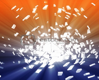 Abstract explosion illustration