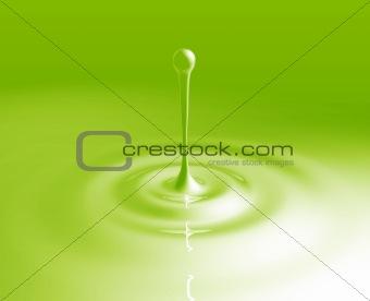 Liquid splash ripples
