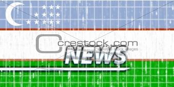 Flag of Uzbekistan news