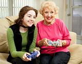 Video Game Fun with Grandma