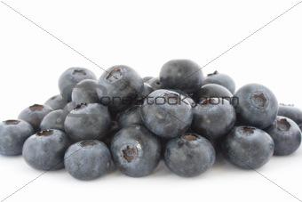 A pile of fresch blueberries