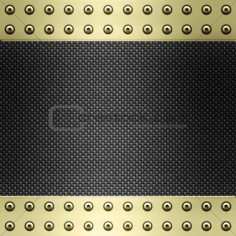 carbon fibre and gold background