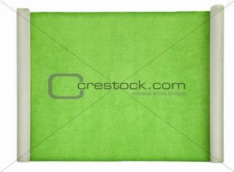 green carpet on white