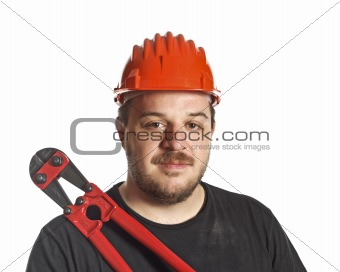 tool and worker