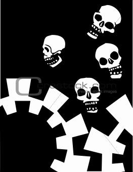 Four Gear Skulls #2