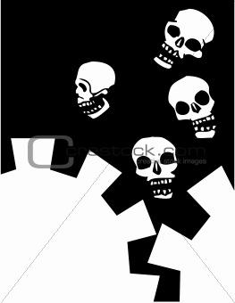 Four Gear Skulls