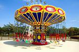 Colorful carousel in atraction park