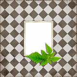 Simple scrapbook layout with green leaves