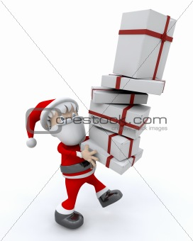 santa and gifts