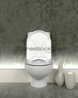 3d render of contemporary toilet