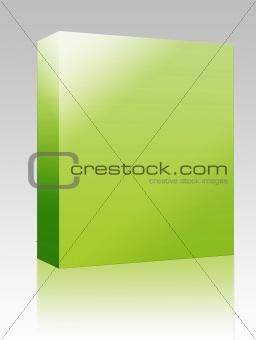 Blank software box