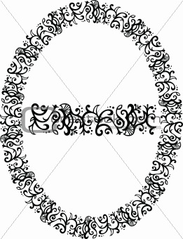 Filigree vector border