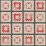 Old bathroom tiles