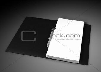 close up of white note pad reminder on black backgound
