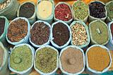 Market Stall Selling Indian Spices