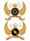 Vector heraldic music pattern.