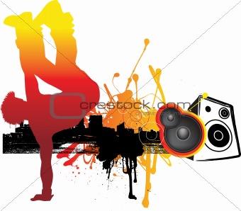 breakdancer in city