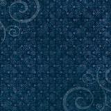 Dark blue swirl and dot pattern background