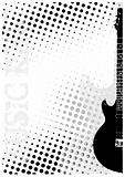 electric guitar dots poster background