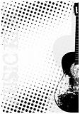 guitar dots poster background