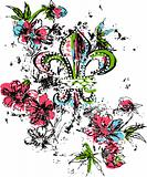 Royalty logo flower