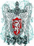 heraldic skull shield