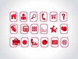 red vector icons