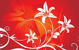 red vector wallpaper, floral themered vector wallpaper, floral theme