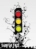 swirl design traffic light