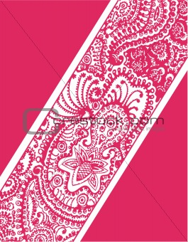paisley flower cover
