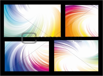 Four Rainbow Abstract Background