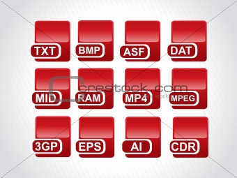 red icons for computer generated file
