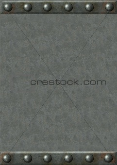 Background - metal plates with rivets