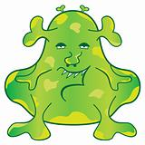 Green Monster Cartoon Character