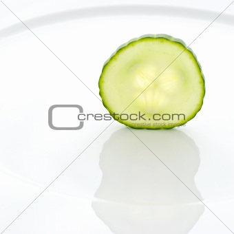 Cucumber on a plate