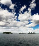 The scenary of thousand Islands