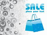 vector of blue shopping bag with place for text