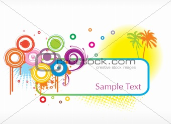 celebratory framework with place for your text, design14
