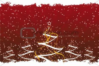 Grunge Christmas trees