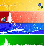 Winter Christmsa banners