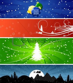 Winter Christmsa banners