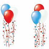Patriotic Balloon Vector
