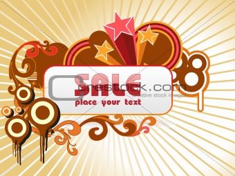 fireworks background with place for text, vector