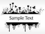 flourish and grunge elements for sample text, design6