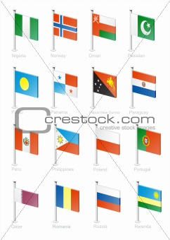 Flag icon set (part 9)