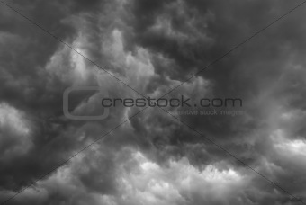 Stormy clouds.