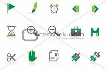 Toolbar and Interface icons  green