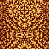 Red seamless wallpaper with cross