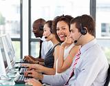 Businesspeople people working on computer