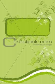 green butterfy banner